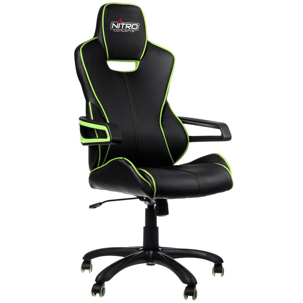 Nitro Concepts E200 Race Series Gaming Chair Black Green