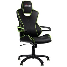 Nitro Concepts E200 Race Series Gaming Chair - Black/Green