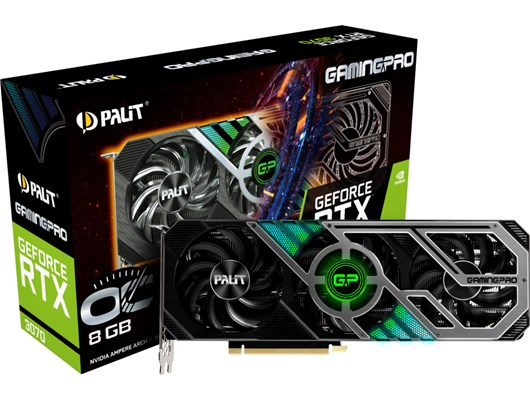 Palit GeForce RTX 3070 GamingPro 8GB OC GPU