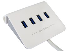 4-Port USB3.0 Hub with Stand / Rapid Charging / OTG / White