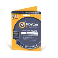 Symantec Norton Security Deluxe - 1 Year Subscription for 1 User on 5 Devices (UK)