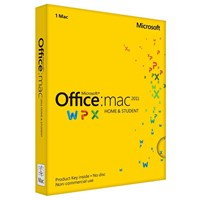 Microsoft Office Mac Home and Student 2011 1 License Pack (Medialess)