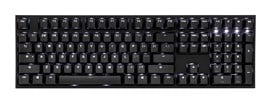Ducky One 2 USB Mechanical Keyboard with Cherry MX Blue Switches and White Backlight (UK)