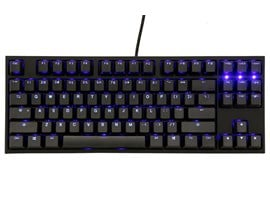 Ducky One 2 USB Mechanical Tenkeyless (TKL) Keyboard with Cherry MX Blue Switches and Blue Backlight (UK)