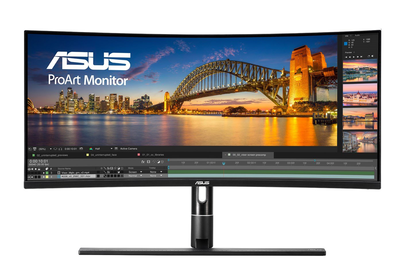ASUS ProArt PA34VC 34 inch LED IPS Curved Monitor - 3440 x 1440