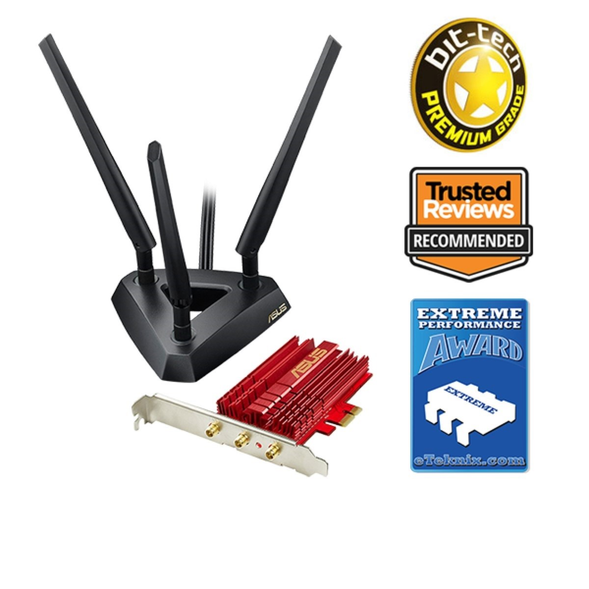 Asus pce-ac68 1900mbps pci express wifi adapter 90ig00r0-bm0g00.