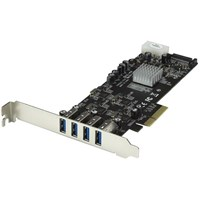 StarTech.com 4 Port Quad Bus PCI Express (PCIe) SuperSpeed USB 3.0 Card Adapter with UASP - SATA/LP4 Power