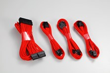 Phanteks 500mm Extension Sleeved Cable Combo Kit (Red)