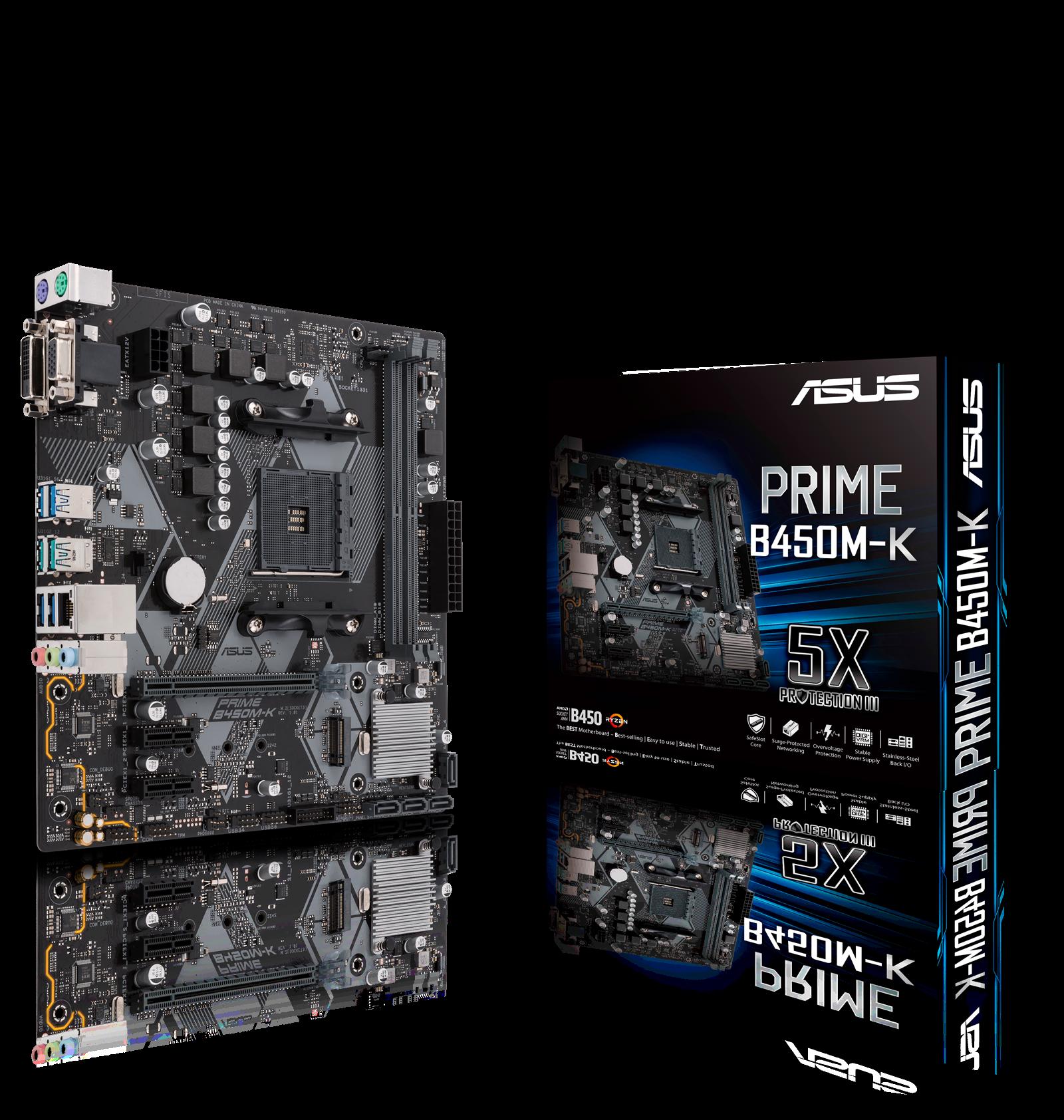 ASUS PRIME B450M K AMD Socket AM4 Motherboard
