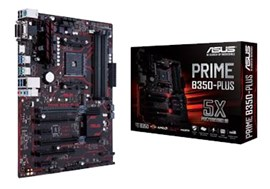 Asus Prime B350-PLUS AMD AM4 B350 Motherboard (ATX) RAID LAN (AMD Radeon R Series Graphics) *Open Box*