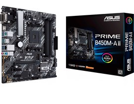 ASUS Prime B450M-A II AMD Socket AM4 Motherboard