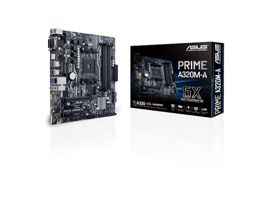 ASUS PRIME A320M-A AMD Socket AM4 Motherboard