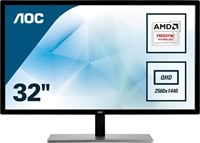AOC Q3279VWF 31.5 inch LED Monitor - 2560 x 1440, 5ms, HDMI, DVI