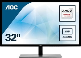 "AOC Q3279VWFD8 31.5"" QHD LED IPS Monitor"