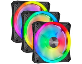 Corsair iCUE QL120 RGB 120mm PWM Triple Fan Kit with Lighting Node CORE
