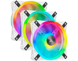 Corsair iCUE QL120 RGB (120mm) White PWM Cooling Fan Kit (Pack of 3)