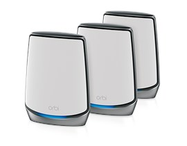 Netgear Orbi AX6000 Whole Home Tri-Band Mesh Wi-Fi 6 System - Router + 2 x Satelite Extenders