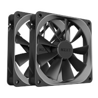 NZXT Aer F140 High Performance Airflow Fans, 140mm, PWM, Twin Pack
