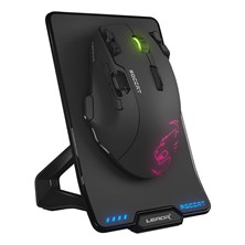 Roccat Leadr Wireless 12000dpi Optical RGB Gaming Mouse with Owl-Eye Sensor (Black)