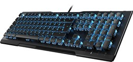 Roccat Vulcan 80 Mechanical USB Gaming Keyboard (Black) with Titan Switches, Blue Illumination