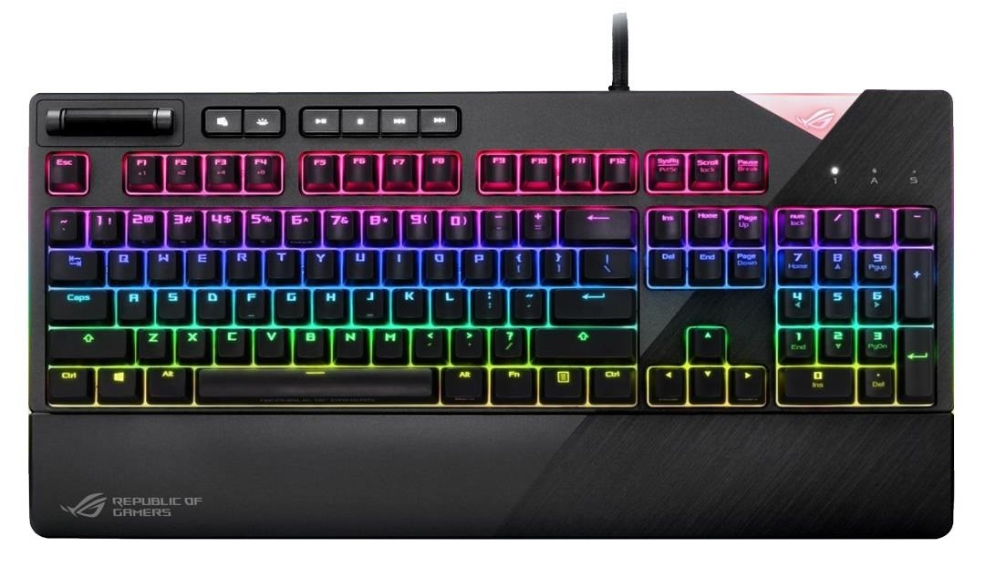 5307d3a9d57 ASUS ROG Strix Flare RGB USB Mechanical Gaming Keyboard with Cherry MX  Brown Switches (UK)