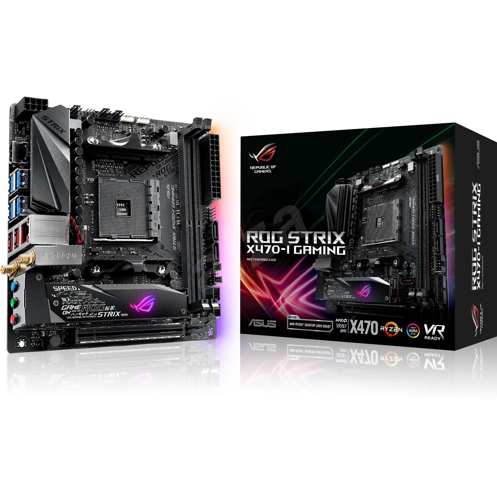 ASUS ROG STRIX X470-I GAMING AMD Motherboard - 90MB0XE0