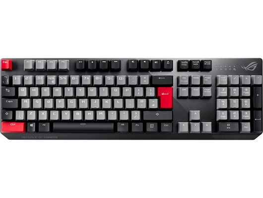 ASUS ROG Strix Scope PBT Wired Mechanical Gaming Keyboard with Cherry MX Red Switches (UK QWERTY)