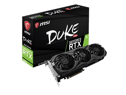 MSI GeForce RTX 2080 Duke OC 8GB Graphics Card
