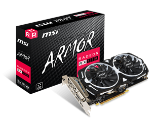 MSI Radeon RX 570 ARMOR 8GB Graphics Card