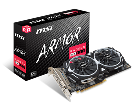 MSI Radeon RX 580 ARMOR 8GB Graphics Card