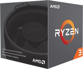 AMD Ryzen 3 1300X (3.5GHz) 65W 4-Core 4-Thread Socket AM4 Processor with Wraith Stealth Cooler *Open Box*