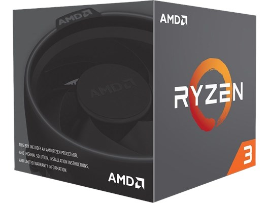 AMD Ryzen 3 1200 (3.1GHz) 65W 4-Core 4-Thread Socket AM4 Processor with Wraith Stealth Cooler *Open Box*