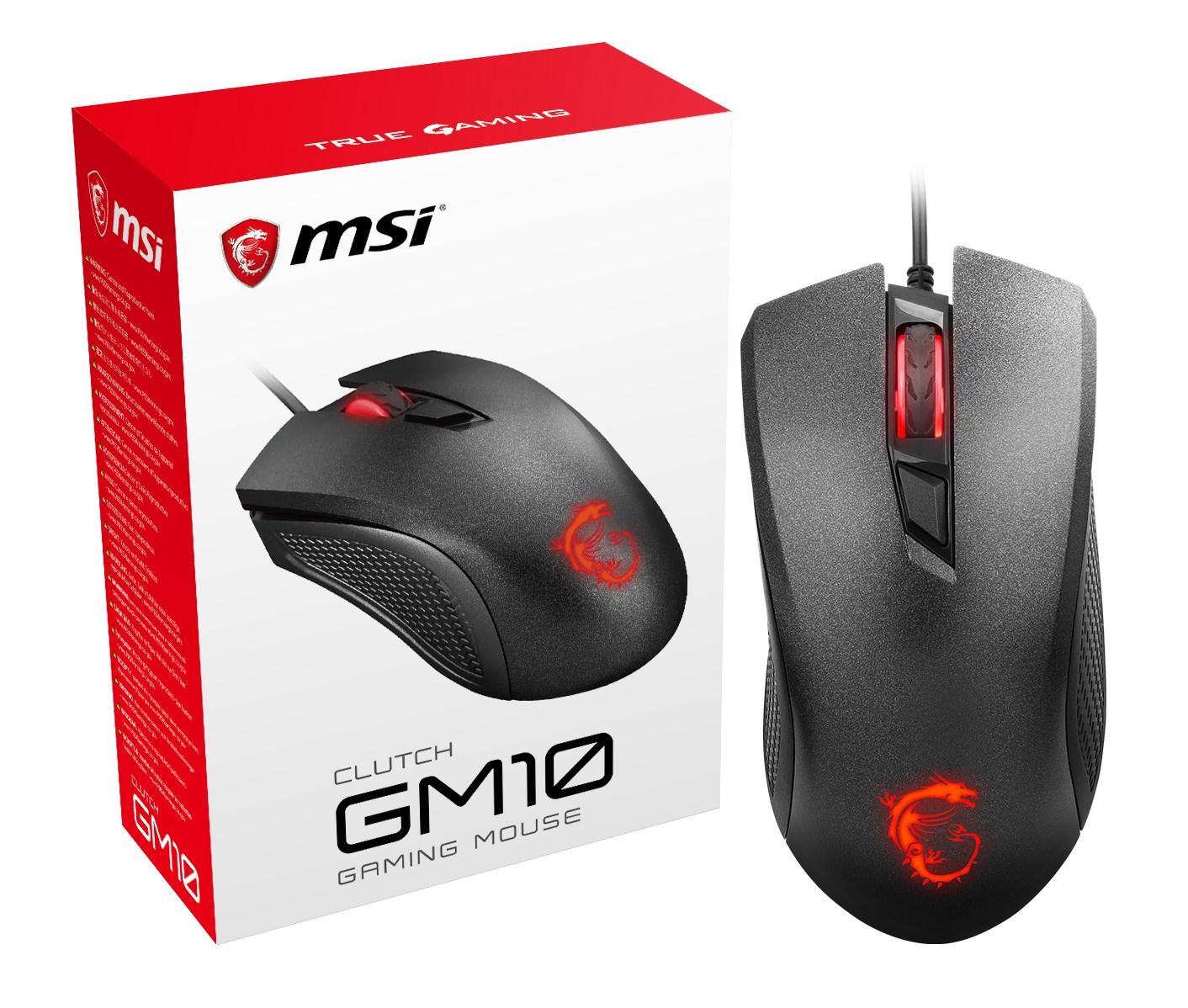 b46072fad49 MSI Clutch GM10 USB Wired Desktop Mouse with Optical Sensor (Black ...