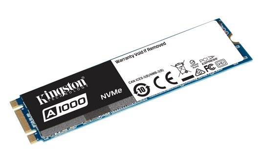 Kingston A1000 960GB M.2-2280 NVMe PCIe SSD