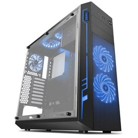 Sama Ark Full Tower Gaming Case - Black