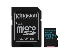 Kingston Canvas Go! 64GB UHS-1 (U3) microSD Card