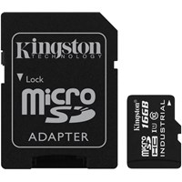 Kingston Industrial Temperature 16GB microSDHC UHS-1 Memory Card with Adaptor