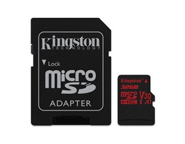 Kingston Canvas React 32GB UHS-1 (U3) & Adaptor
