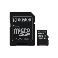 Kingston Canvas Select 80R 128GB Class 10 UHS-I microSDXC Memory Card with SD Adapter