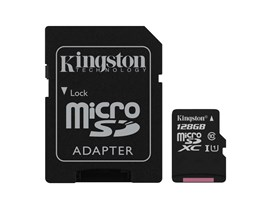 Kingston Canvas Select 128GB UHS-1 (U1) & Adaptor