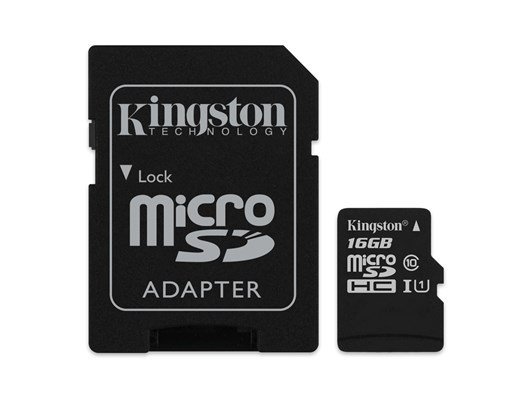 Kingston Canvas Select 16GB UHS-1 (U1) & Adaptor