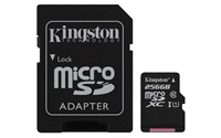 Kingston Canvas Select (256GB) MicroSD Card Class 10 UHS-1 U1 with Adaptor