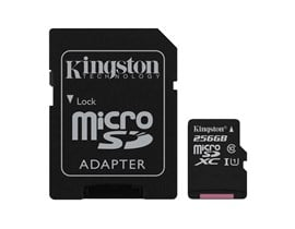 Kingston Canvas Select 256GB UHS-1 (U1) & Adaptor