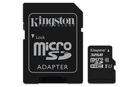 Kingston Canvas Select 32GB UHS-1 (U1) & Adaptor
