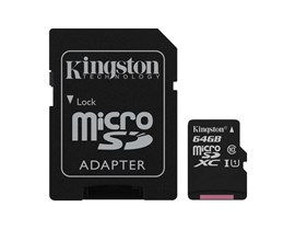 Kingston Canvas Select 64GB UHS-1 (U1) & Adaptor