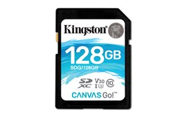 Kingston Canvas Go! 128GB UHS-3 (U3) SD Card