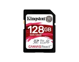 Kingston Canvas React 128GB UHS-3 (U3) SD Card