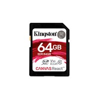 Kingston (64GB) Canvas React SD Card Class 10 UHS-1 U3