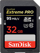 SanDisk Extreme Pro 32GB 95MB/s SDHC Card