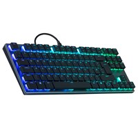 Cooler Master SK630 Low Profile Mechanical Tenkeyless Keyboard with Cherry MX Red Switches, RGB Backlit, Chiclet Keys